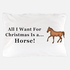 Christmas Horse Pillow Case