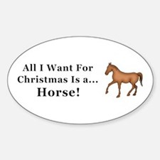 Christmas Horse Decal