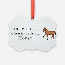 Christmas Horse Ornament