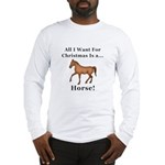 Christmas Horse Long Sleeve T-Shirt