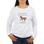Christmas Horse Women's Long Sleeve T-Shirt