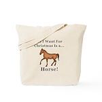Christmas Horse Tote Bag