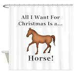 Christmas Horse Shower Curtain