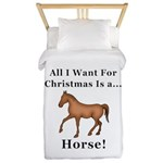 Christmas Horse Twin Duvet