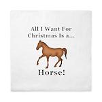 Christmas Horse Queen Duvet