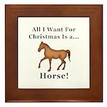 Christmas Horse Framed Tile