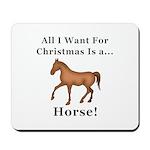 Christmas Horse Mousepad