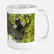 chartreux in tree Mugs