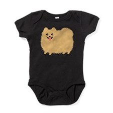 Cute Funny pomeranian Baby Bodysuit