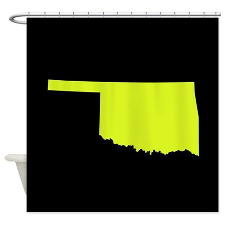 Oklahoma Green Black Shower Curtain By Stateimage