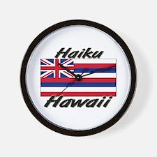 Haiku Hawaii Wall Clock