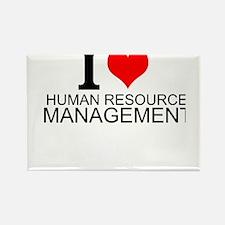 I Love Human Resources Management Magnets