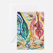 double bass party Greeting Cards