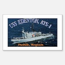 USS Edenton Rectangle Decal