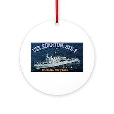 USS Edenton Ornament (Round)