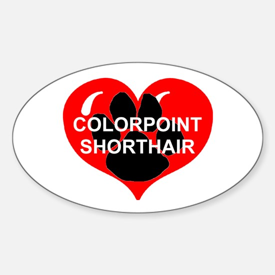 colorpoint shorthair name paw heart Decal