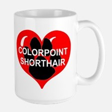 colorpoint shorthair name paw heart Mugs