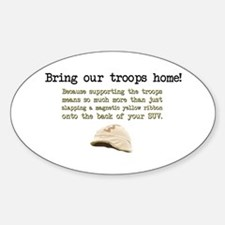 Bring Our Troops Home Oval Decal