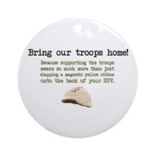 Bring Our Troops Home Ornament (Round)