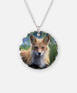 Fox Necklace Circle Charm