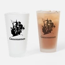 Groomsman Pirate Ship Drinking Glass