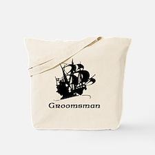 Groomsman Pirate Ship Tote Bag