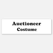 Auctioneer costume Bumper Bumper Bumper Sticker