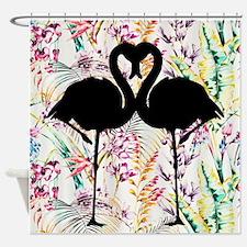 Flamingo Silhouette Shower Curtain