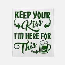Keep Your Kiss Funny Irish Throw Blanket