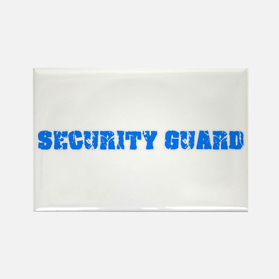 Security Guard Blue Bold Design Magnets