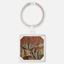Cute Rock salt Square Keychain