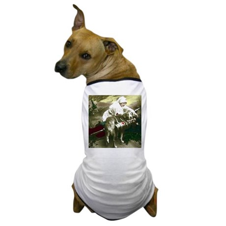 NURSE WITH SOLDIER & DOG Dog T-Shirt