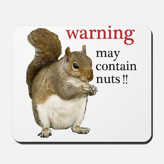 Warning Squirrel Mousepad