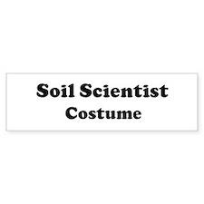 Soil Scientist costume Bumper Bumper Sticker