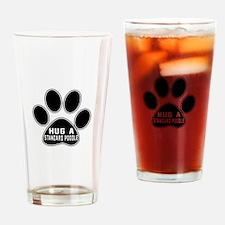 Hug A Standard Poodle Dog Drinking Glass