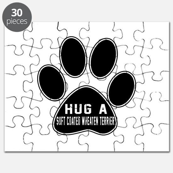 Hug A Soft Coated Wheaten Terrier Dog Puzzle