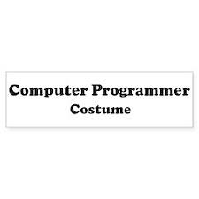 Computer Programmer costume Bumper Bumper Sticker