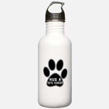 Hug A Skye Terrier Dog Sports Water Bottle
