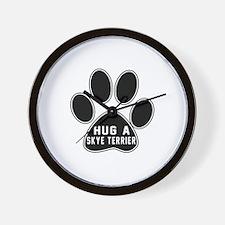 Hug A Skye Terrier Dog Wall Clock
