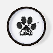 Hug A Shih Tzu Dog Wall Clock