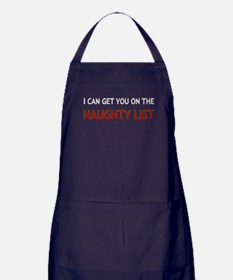 I Can Get You On The Naught List Apron (dark)