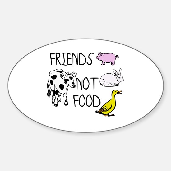 Cute Vegan cheap Sticker (Oval)