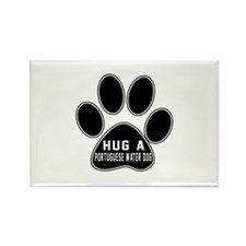 Hug A Portuguese Water Rectangle Magnet (10 pack)