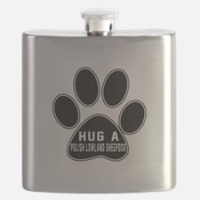 Hug A Polish Lowland Sheepdog Dog Flask