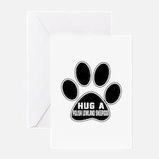Hug A Polish Lowland Sheepdog Dog Greeting Card