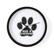 Hug A Petit Basset Griffon Vendeen Dog Wall Clock