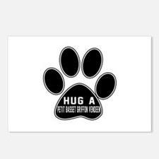 Hug A Petit Basset Griffo Postcards (Package of 8)