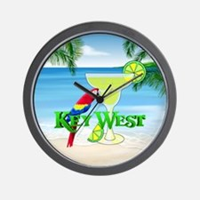 Key West Margarita Wall Clock