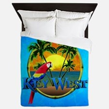 Key West Sunset Queen Duvet