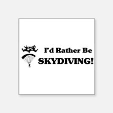 "Cute Skydiving Square Sticker 3"" x 3"""